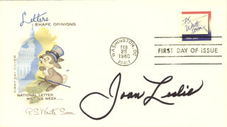 JOAN LESLIE - FIRST DAY COVER SIGNED