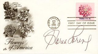 GLORIA LORING - FIRST DAY COVER SIGNED