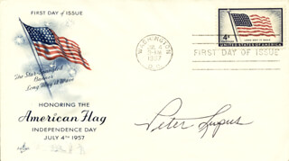 PETER LUPUS - FIRST DAY COVER SIGNED