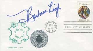 BARBARA LEIGH - FIRST DAY COVER SIGNED