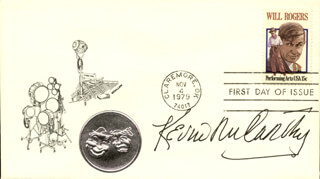 KEVIN McCARTHY - FIRST DAY COVER SIGNED