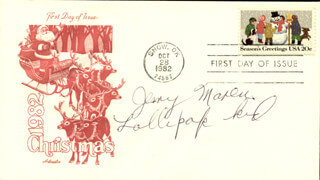 JERRY MAREN - FIRST DAY COVER SIGNED