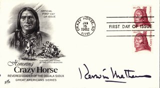 KERWIN MATHEWS - FIRST DAY COVER SIGNED