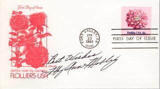 MARY ANN MOBLEY - FIRST DAY COVER WITH AUTOGRAPH SENTIMENT SIGNED