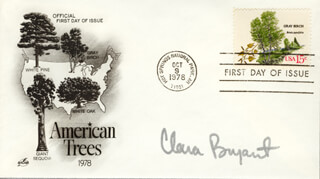 CLARA BRYANT - FIRST DAY COVER SIGNED