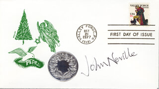 JOHN NEVILLE - FIRST DAY COVER SIGNED