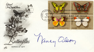 NANCY OLSON - FIRST DAY COVER SIGNED