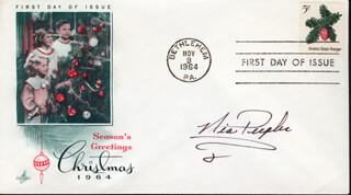 NIA PEEPLES - FIRST DAY COVER SIGNED