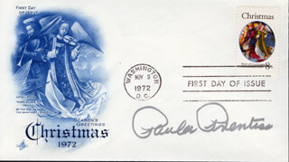 PAULA PRENTISS - FIRST DAY COVER SIGNED