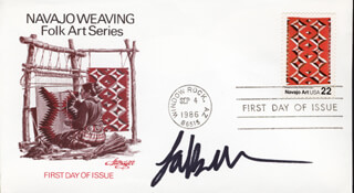 LAKE BELL - FIRST DAY COVER SIGNED