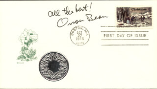 ORSON BEAN - FIRST DAY COVER WITH AUTOGRAPH SENTIMENT SIGNED