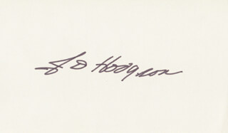 Autographs: JAMES D. HODGSON - SIGNATURE(S)