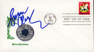 SUSAN CLARK - FIRST DAY COVER SIGNED