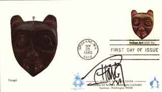 CHEECH & CHONG (TOMMY CHONG) - FIRST DAY COVER SIGNED