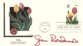 GENA ROWLANDS - FIRST DAY COVER SIGNED