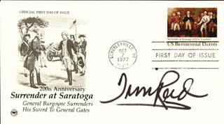 TIM REID - FIRST DAY COVER SIGNED