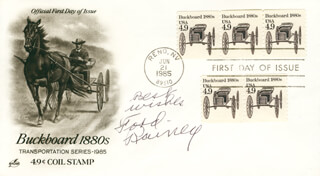 FORD RAINEY - FIRST DAY COVER WITH AUTOGRAPH SENTIMENT SIGNED
