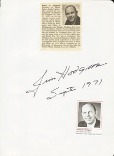 Autographs: JAMES D. HODGSON - SIGNATURE(S) 09/1971