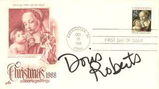 DORIS ROBERTS - FIRST DAY COVER SIGNED