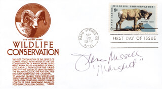 JEANNE RUSSELL - FIRST DAY COVER SIGNED