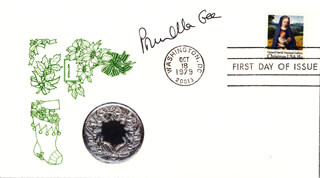 PRUNELLA GEE - FIRST DAY COVER SIGNED