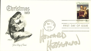 HOWARD HESSEMAN - FIRST DAY COVER SIGNED