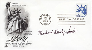 MICHAEL BAILEY SMITH - FIRST DAY COVER SIGNED
