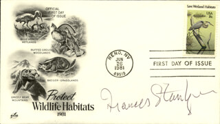 FRANCES STERNHAGEN - FIRST DAY COVER SIGNED