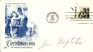 JEAN STAPLETON - FIRST DAY COVER SIGNED