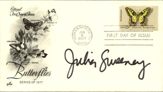 JULIA SWEENEY - FIRST DAY COVER SIGNED