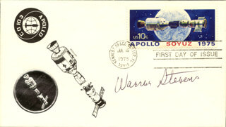WARREN STEVENS - FIRST DAY COVER SIGNED