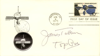 JAMES TOLKAN - FIRST DAY COVER SIGNED