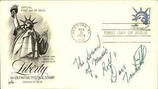 DANIEL TRUHITTE - FIRST DAY COVER SIGNED