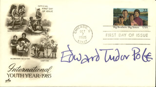 EDWARD TUDOR POLE - FIRST DAY COVER SIGNED