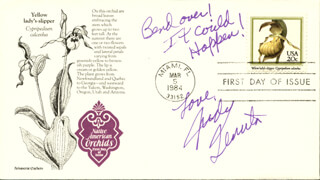JUDY TENUTA - FIRST DAY COVER WITH AUTOGRAPH SENTIMENT SIGNED