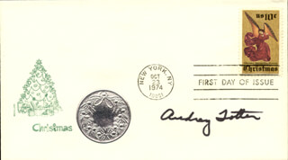 AUDREY TOTTER - FIRST DAY COVER SIGNED
