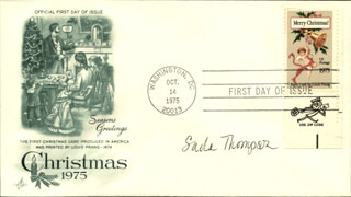 SADA THOMPSON - FIRST DAY COVER SIGNED
