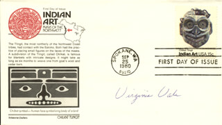 VIRGINIA VALE - FIRST DAY COVER SIGNED