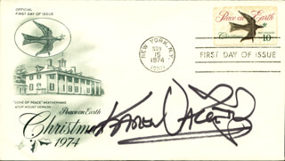 KAREN VALENTINE - FIRST DAY COVER SIGNED