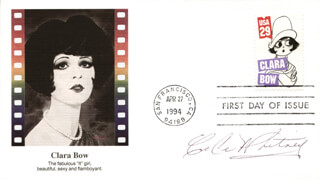 CE CE (CELIA) WHITNEY - FIRST DAY COVER SIGNED