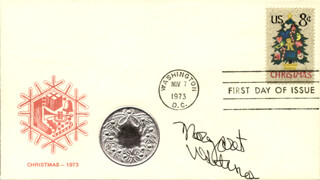 MARGARET WHITING - FIRST DAY COVER SIGNED