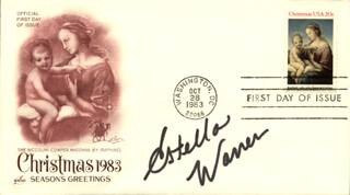 ESTELLA WARREN - FIRST DAY COVER SIGNED