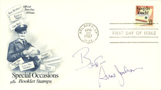 ANNE JACKSON - FIRST DAY COVER WITH AUTOGRAPH SENTIMENT SIGNED