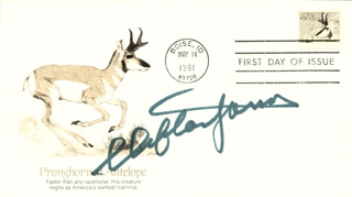 CLIFTON JAMES - FIRST DAY COVER SIGNED