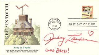 AUDREY LANDERS - FIRST DAY COVER SIGNED