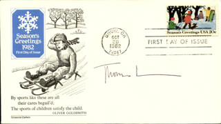 THOMAS LENNON - FIRST DAY COVER SIGNED
