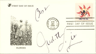JUDITH LIGHT - FIRST DAY COVER WITH AUTOGRAPH SENTIMENT SIGNED
