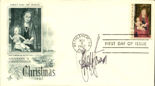 ELIZABETH McGOVERN - FIRST DAY COVER SIGNED