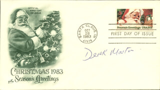 DEREK MARTIN - FIRST DAY COVER SIGNED