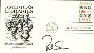 PAT SAJAK - FIRST DAY COVER SIGNED